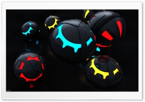 Colorful Balls 3D HD Wide Wallpaper for Widescreen