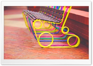 Colorful Bench HD Wide Wallpaper for Widescreen