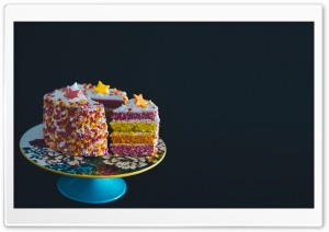 Colorful Birthday Cake HD Wide Wallpaper for Widescreen