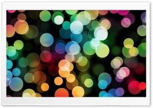 Colorful Bokeh HD Wide Wallpaper for 4K UHD Widescreen desktop & smartphone