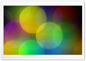 Colorful Bokeh HD Wide Wallpaper for Widescreen