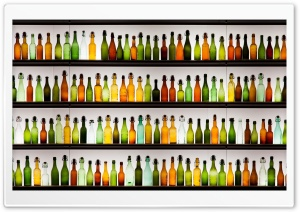 Colorful Bottles HD Wide Wallpaper for Widescreen