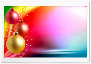 Colorful Christmas Background HD Wide Wallpaper for Widescreen