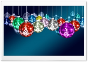 Colorful Christmas Balls HD Wide Wallpaper for Widescreen