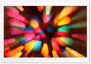 Colorful Christmas Bokeh HD Wide Wallpaper for Widescreen