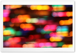 Colorful Christmas Lights Ultra HD Wallpaper for 4K UHD Widescreen desktop, tablet & smartphone
