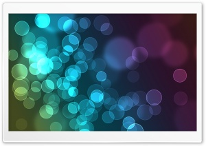 Colorful Circles Of Light HD Wide Wallpaper for Widescreen
