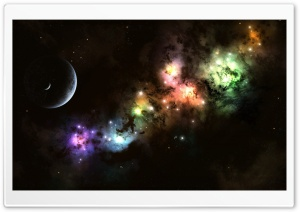 Colorful Cosmic Clouds HD Wide Wallpaper for Widescreen