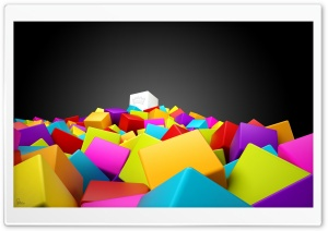 Colorful Cubes HD Wide Wallpaper for Widescreen