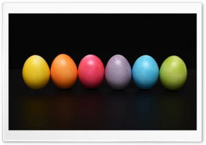 Colorful Easter Eggs HD Wide Wallpaper for Widescreen
