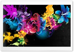 Colorful Flowers HD Wide Wallpaper for 4K UHD Widescreen desktop & smartphone