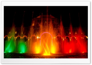 Colorful Fountain HD Wide Wallpaper for Widescreen