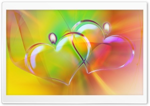 Colorful Heart Candles HD Wide Wallpaper for Widescreen