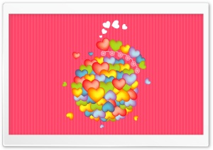 Colorful Hearts For Valentine HD Wide Wallpaper for Widescreen
