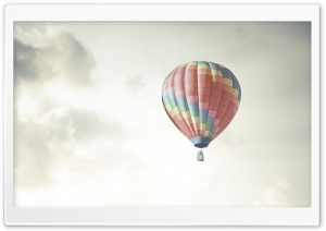 Colorful Hot Air Balloon In The Sky HD Wide Wallpaper for 4K UHD Widescreen desktop & smartphone