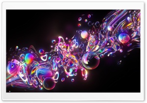 Colorful Iridescent Bubbles