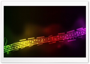 Colorful Musical Notes HD Wide Wallpaper for Widescreen