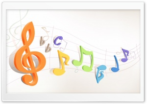 Colorful Musical Notes 1 HD Wide Wallpaper for Widescreen
