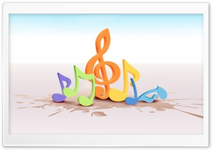 Colorful Musical Notes 2 HD Wide Wallpaper for Widescreen