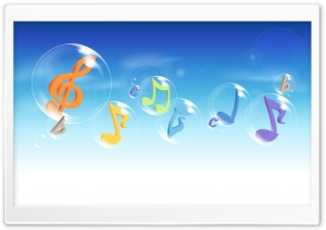 Colorful Musical Notes 3 HD Wide Wallpaper for Widescreen