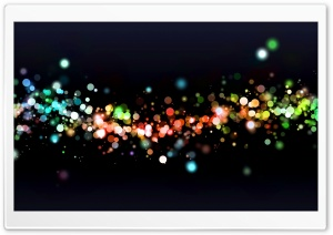 Colorful Night Bokeh HD Wide Wallpaper for Widescreen