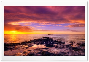 Colorful Ocean Sunset HD Wide Wallpaper for Widescreen
