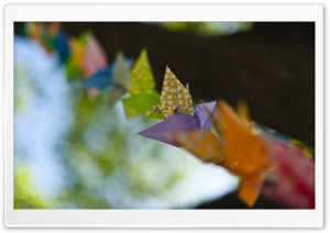 Colorful Origami HD Wide Wallpaper for Widescreen