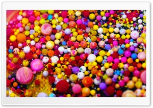 Colorful Paint Bubbles Macro HD Wide Wallpaper for 4K UHD Widescreen desktop & smartphone