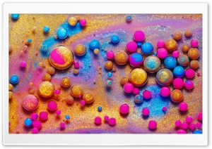 Colorful Paint, Glitter, Bubbles, Macro HD Wide Wallpaper for 4K UHD Widescreen desktop & smartphone