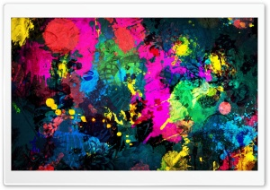 Colorful Paint Splatter HD Wide Wallpaper for Widescreen