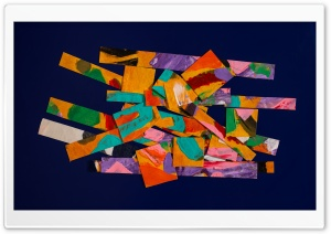 Colorful Painting Scraps Ultra HD Wallpaper for 4K UHD Widescreen desktop, tablet & smartphone