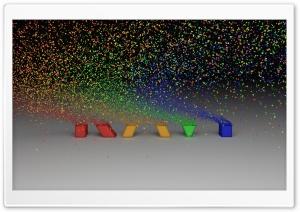 Colorful Particles Ultra HD Wallpaper for 4K UHD Widescreen desktop, tablet & smartphone