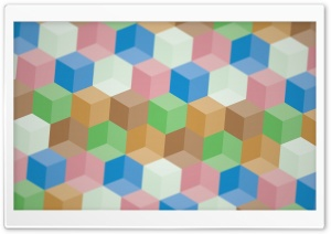 Colorful Polygons HD Wide Wallpaper for Widescreen