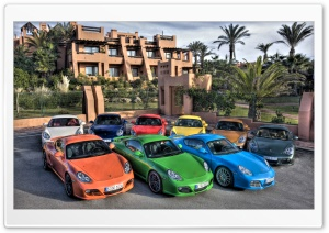 Colorful Porsche Cars HD Wide Wallpaper for Widescreen