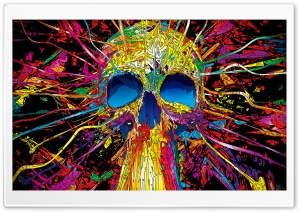 Colorful Skull HD Wide Wallpaper for Widescreen