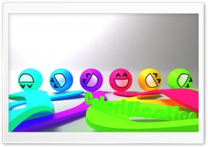 Colorful Smiley Faces HD Wide Wallpaper for 4K UHD Widescreen desktop & smartphone