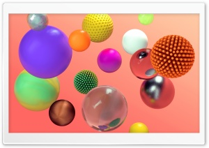 Colorful Spheres 3D Ultra HD Wallpaper for 4K UHD Widescreen desktop, tablet & smartphone
