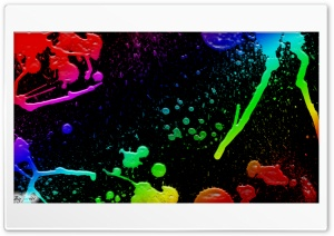 Colorful Splatter HD Wide Wallpaper for Widescreen