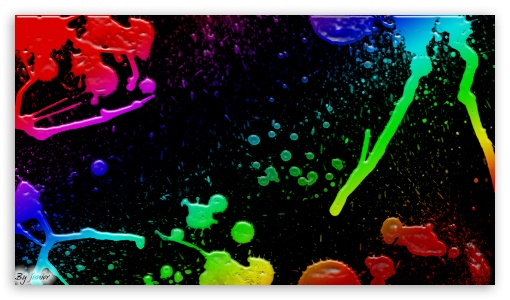 Colorful Splatter HD desktop wallpaper : High Definition : Mobile