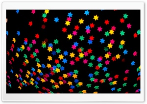 Colorful Stars Bokeh HD Wide Wallpaper for Widescreen