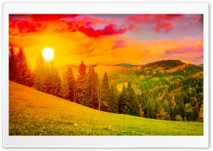 Colorful Sunrise Mountain Landscape HD Wide Wallpaper for 4K UHD Widescreen desktop & smartphone