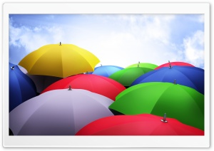 Colorful Umbrellas HD Wide Wallpaper for Widescreen