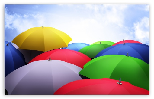 Colorful Umbrellas HD wallpaper for Standard 4:3 5:4 Fullscreen UXGA XGA SVGA QSXGA SXGA ; Wide 16:10 5:3 Widescreen WHXGA WQXGA WUXGA WXGA WGA ; HD 16:9 High Definition WQHD QWXGA 1080p 900p 720p QHD nHD ; Other 3:2 DVGA HVGA HQVGA devices ( Apple PowerBook G4 iPhone 4 3G 3GS iPod Touch ) ; Mobile VGA WVGA iPhone iPad PSP Phone - VGA QVGA Smartphone ( PocketPC GPS iPod Zune BlackBerry HTC Samsung LG Nokia Eten Asus ) WVGA WQVGA Smartphone ( HTC Samsung Sony Ericsson LG Vertu MIO ) HVGA Smartphone ( Apple iPhone iPod BlackBerry HTC Samsung Nokia ) Sony PSP Zune HD Zen ;