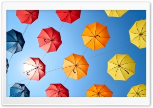 Colorful Umbrellas Ultra HD Wallpaper for 4K UHD Widescreen desktop, tablet & smartphone