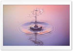 Colorful Water Drip HD Wide Wallpaper for Widescreen