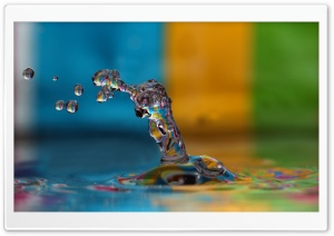 Colorful Water Splash HD Wide Wallpaper for Widescreen