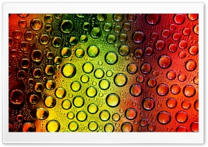 Colorful WaterDrops HD Wide Wallpaper for Widescreen