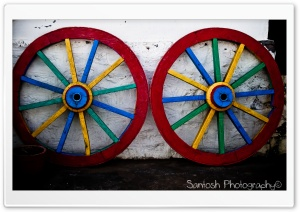 Colorful Wheels HD Wide Wallpaper for Widescreen