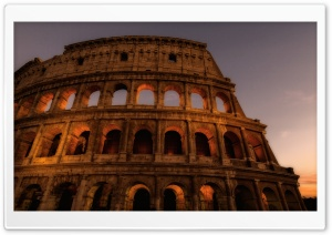 Colosseum Amphitheatre, Rome, Italy HD Wide Wallpaper for Widescreen