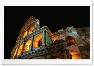 Colosseum At Night HD Wide Wallpaper for Widescreen